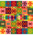 Ethnic motifs background carpet with folk vector image