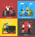 stress and relaxation flat design concept vector image