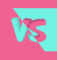 vs versus inscription on turquoise vector image
