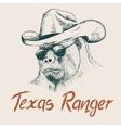 Gorilla like a texas ranger vector image