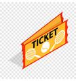 tennis ticket isometric icon vector image