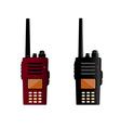 Walkie talkie and police radio or radio vector image vector image