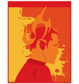 Flame character vector image