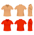 men polo t shirts vector image vector image