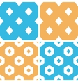 Diamonds pattern set colored vector image