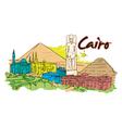 cairo doodles vector image vector image