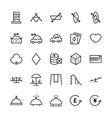 Hotel Outline Icons 18 vector image