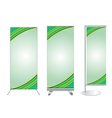 Set of banner stand display vector image vector image