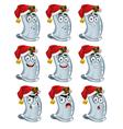 condoms with Santa hat vector image