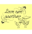 The inscription Love one another vector image