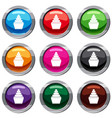 cupcake set 9 collection vector image