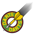 darts label vector image