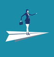 Flight Women leaders investment vector image