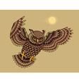 flying owl bird vector image