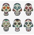 Sugar skulls collection vector image