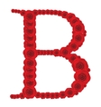 ABC from red roses Beautiful vector image