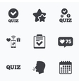 Quiz icons Checklist with check mark symbol vector image