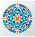 contemporary arabic geometric round pattern vector image