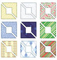 Geometric pattern card and tag design vector image vector image