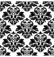 Seamless damask black floral background pattern vector image vector image