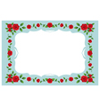 Red Roses Frame and Border vector image vector image