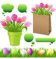 spring set vector image