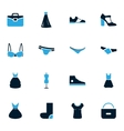 Clothes Icons set vector image