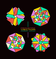 Set of geometric rosette vector image