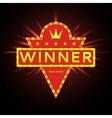 Retro banner of winner vector image