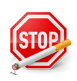 Stop smoking vector image vector image