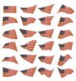 american flag setamerican flag blowing in the vector image