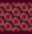 art nouveau style purple pattern vector image