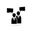 businessman icon silhouette vector image