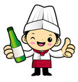 cartoon chef character promotes a distilled vector image