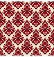 Damask seamless pattern oriental motif vector image