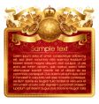 Gold musical frame vector image