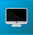 isolated desktop computer icon pc monitor icon vector image