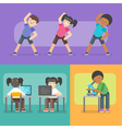 kids activities at school vector image