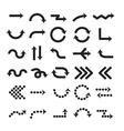 arrow sign Black arrows symbol set Cursor design vector image