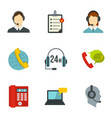 business customer care service icons set vector image