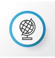 Education globe icon symbol premium quality vector image