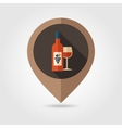 Wine flat mapping pin icon vector image