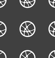 Basketball icon sign Seamless pattern on a gray vector image