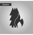 black and white style forest fire vector image