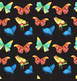 colorful butterflies set vector image