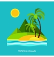 Flat design nature landscape with sun vector image
