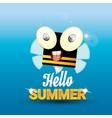 Hello summer background funny cartoons bee vector image