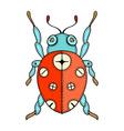 Lady Bug Doodle vector image