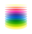 Rainbow cylinder layers vector image