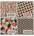 retro-styled seamless patterns vector image